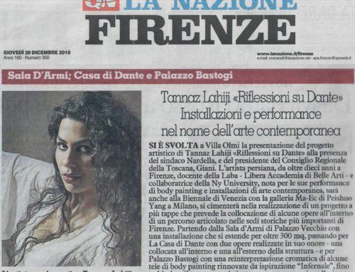 Articolo la Nazione di Firenze